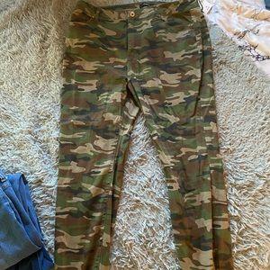 Plus Size Camo Skinny Jeans
